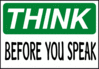 think before you speak clip art