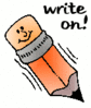 write on clip art