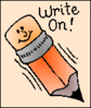 write on 1 clip art