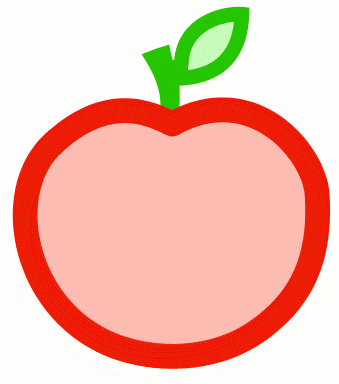 Apple color outline