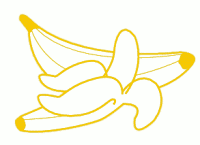 bananas outline
