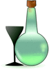 Bottle of absinth clip art