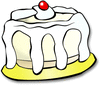 big cake cherry on top clip art