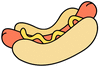 big hot dog clip art