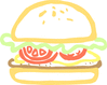 burger abstract clip art