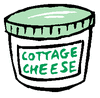 cottage cheese clip art