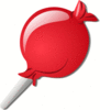 crystal lolipop red clip art