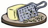 grated cheese color clip art