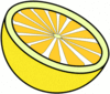 lemon cut clip art