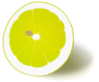lemon halved clip art