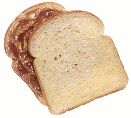 Peanut butter and jelly sanwich