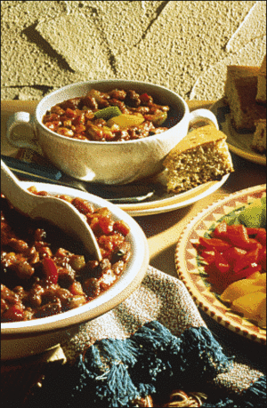 Vegetable Chili With Cornbread