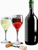 Wine glasses color clip art