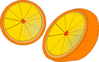 orange halves clip art