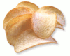 potato chips closeup clip art