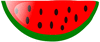 watermelon slice bright clip art
