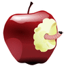 wormy apple clip art
