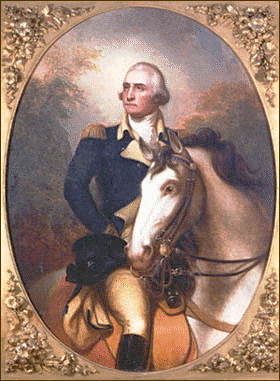 Washington portrait on horseback