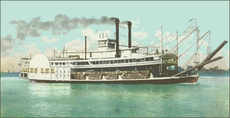Postcard River Steamboat