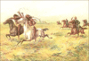 Cavalry and Indians clip art
