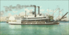 Postcard River Steamboat clip art