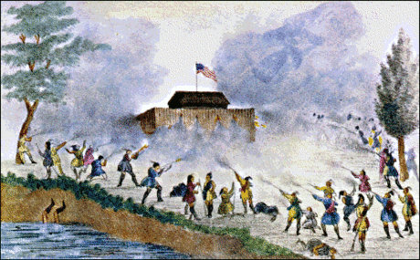 Seminole attack of Seminoles on blockhouse 1835