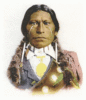 Apache Chief James Garfield clip art