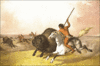 Buffalo Hunt on the Southwestern Prairie clip art