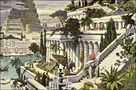 7 seven ancient wonders Hanging Gardens of Babylon
