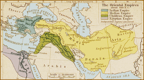map Oriental Empires c600 BC
