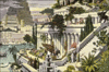 7 seven ancient wonders Hanging Gardens of Babylon clip art