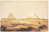 7 seven ancient wonders pyramids at Giza clip art