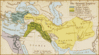 map Oriental Empires c600 BC clip art