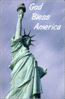 4th July Statue of Liberty God bless clip art