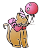 Birthday party-kitty clip art