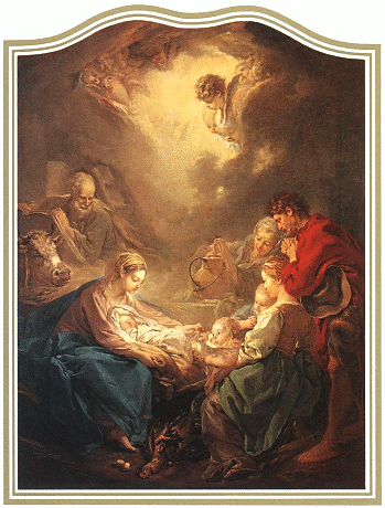 christmas Adoration of the Shepherds Boucher