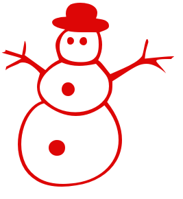 christmas snowman1 red