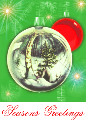 christmas tree ornaments 5 greetings