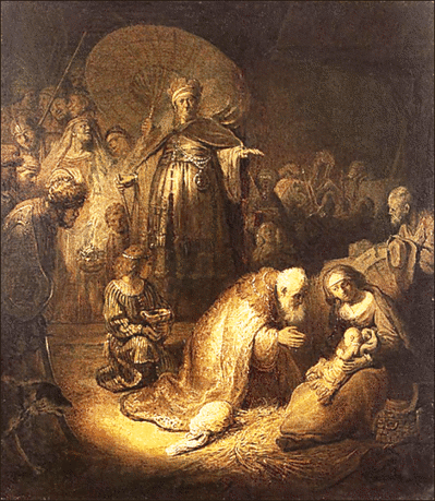 christmas Adoration of the Magi Rembrandt