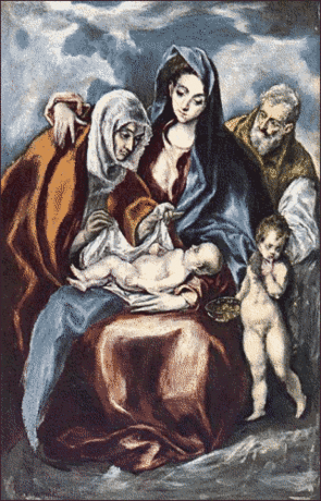 christmas Holy Family El Greco