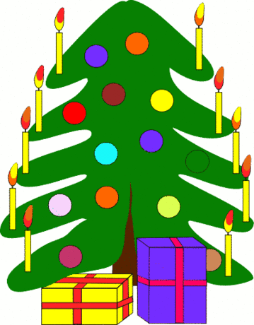 christmas christmas tree w packages 2