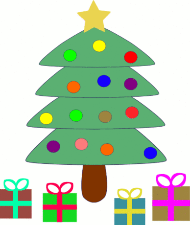 christmas christmas tree w packages 3