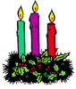 christmas 3 candles clip art