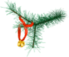 christmas Branch Bell clip art