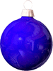 christmas Bulb Blue light clip art
