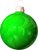 christmas Bulb Green light clip art
