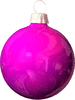 christmas Bulb Purple light clip art