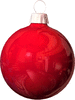 christmas Bulb Red light clip art