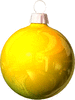 christmas Bulb Yellow light clip art