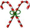 christmas Candycanes Bow clip art